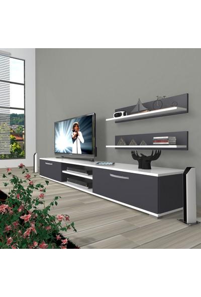 Decoraktiv Eko 4 Mdf DVD Tv Ünitesi Tv Sehpası Beyaz Antrasit