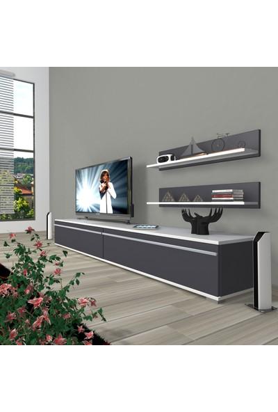 Decoraktiv Eko 4 Mdf Std Tv Ünitesi Tv Sehpası Beyaz Antrasit
