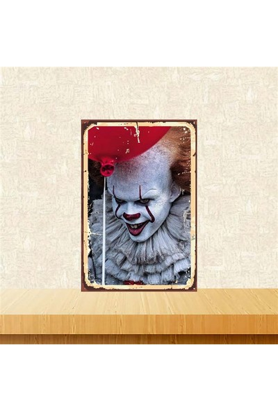 Selens Pennywise 20 x 30 cm Retro Ahşap Poster