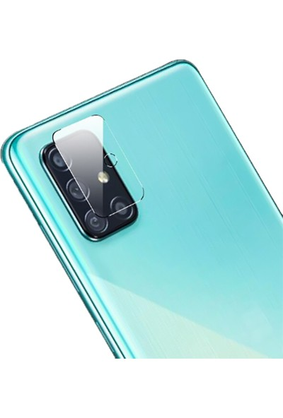 Tbkcase Samsung Galaxy M51 Kılıf Mat Silikon Lacivert + Nano Ekran Koruyucu + Kamera Nano Ekran Koruyucu