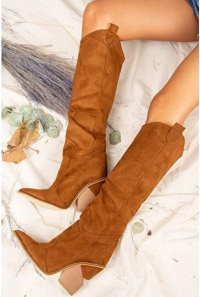 Fox Shoes Taba Kadın Çizme J372537202