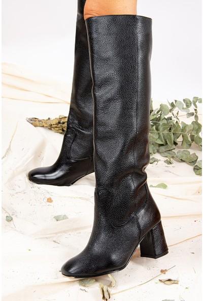 Fox Shoes Siyah Kadın Hakiki Deri Çizme J749198303