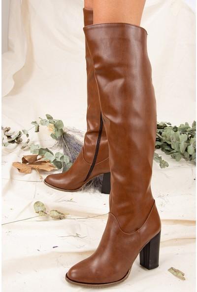 Fox Shoes Taba Kadın Çizme A654018009