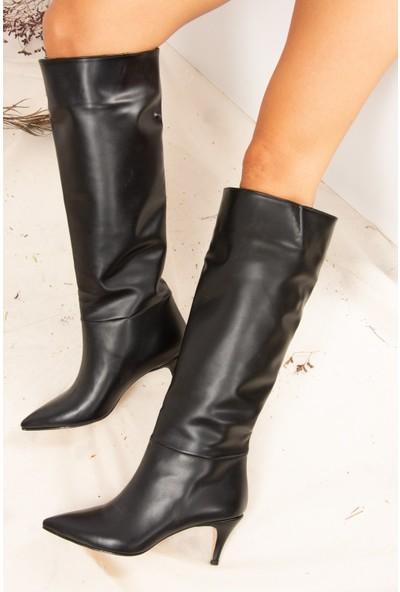 Fox Shoes Siyah Kadın Çizme J749205309