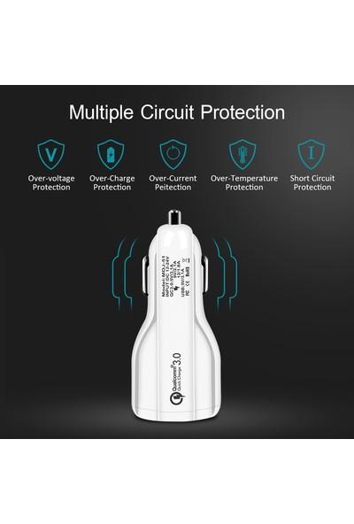 Tonmeister MAKT Qualcomm 2 USB Hızlı Araç Şarjı