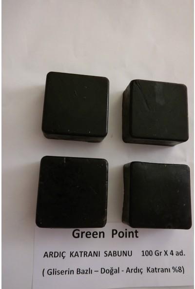 Green Point Ardıç Katranı Doğal Sabun , Gliserin Bazlı , 100 gr x 4 Adet