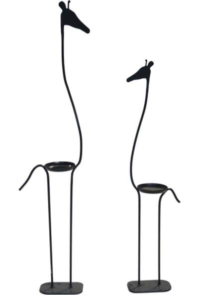 Vital Dekorasyon Zürafa Saksı/mumluk