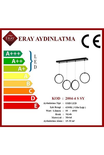 Eray Aydınlatma 2004-4 S Siyah Sıralı LED Avize