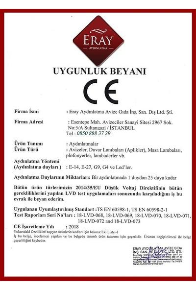 Eray Aydınlatma L-Kol Eskitme 3'lü Avize