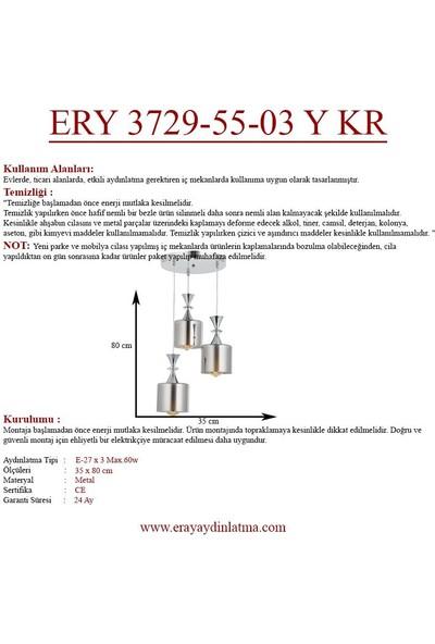 Eray Aydınlatma Ery 3729-55-03 Y Krom 3'lü Avize