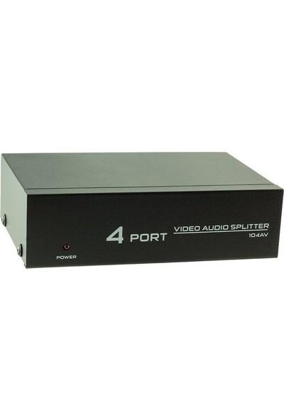 Electroon AV-104 4 Port Audio Video Splitter - Çoklayıcı