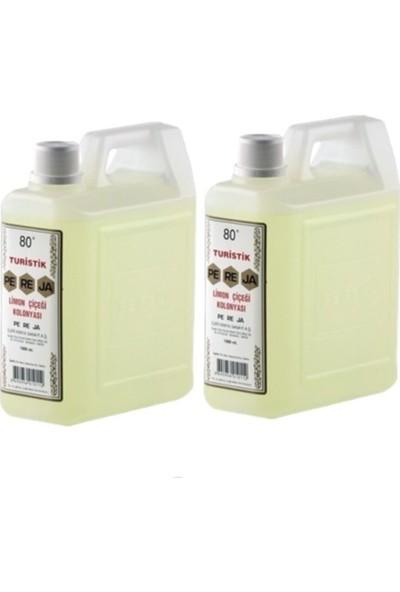 Pereja Limon Kolonyası 80 Derece 1000 ml Kolonya 2 Adet
