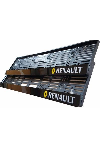 Berişbek Kardeşler Renault Plakalık Pleksi Plaka Çerçevesi (2 Adet) Aynalı Lazer Kesim