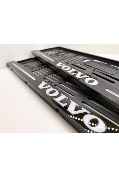 Berişbek Kardeşler Volvo Plakalık Pleksi Plaka Çerçevesi (2 Adet) Aynalı Lazer Kesim
