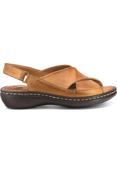 İloz Deri Yazlık Kadın Sandalet