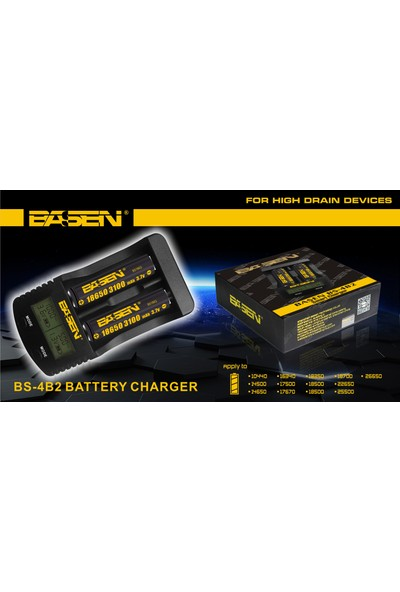 Basen Bs4-2 Çift Port Dijital Pil Şarj Aleti