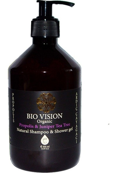 Bio Vision Organic Propolis Ardıç Çay Ağacı Şampuan 500 ml