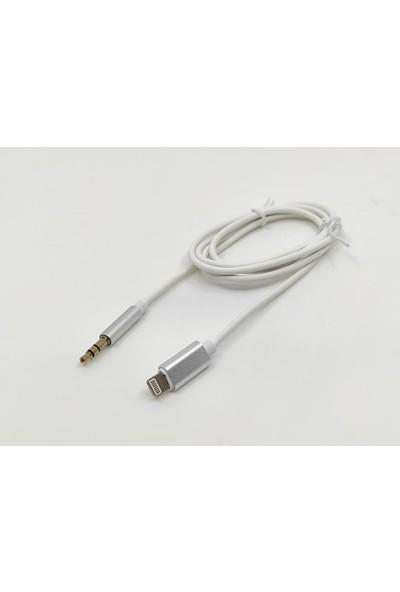 Longline Lightning To 3.5mm Jack Beyaz Aux Kablo