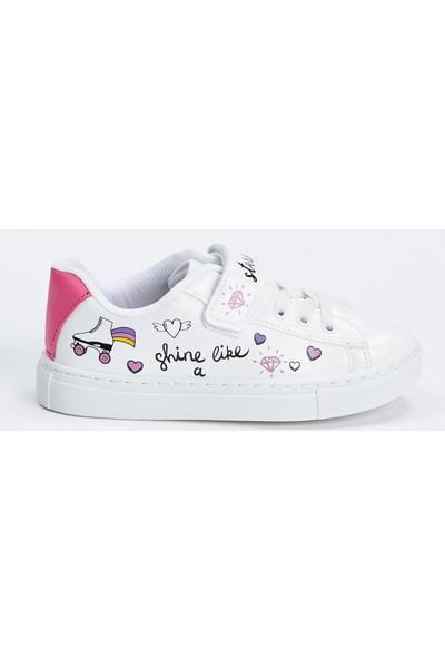 DeFacto Kız Çocuk Sneaker Cırtcırtlı Ayakkabı N7405A620AU