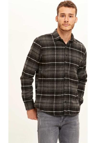 Defacto Erkek Regular Fit Uzun Kollu Oduncu Gömlek