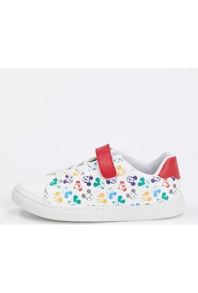 Defacto Kız Çocuk Mickey Mouse Lisanslı Cırtcırtlı Ayakkabı