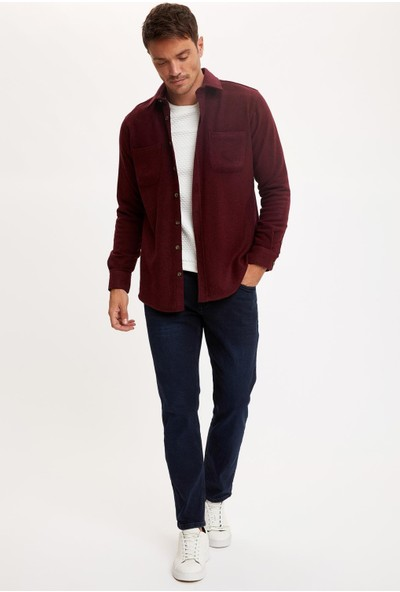 Defacto Erkek Modern Fit Uzun Kolu Oduncu Gömlek