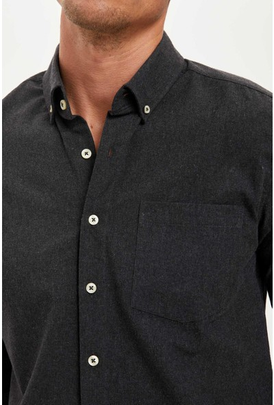 Defacto Erkek Uzun Kollu Modern Fit Gömlek