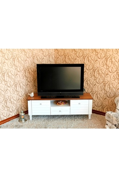 Ekia Zeus Beyaz Tv Sehpası