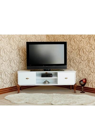 Ekia Artemıs Beyaz Tv Sehpası