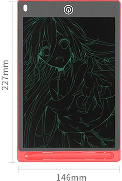 """Buyfun LCD Yazma Tablet 8.5"""" Silinebilir Kullanımlık Yazı (Yurt Dışından)"""