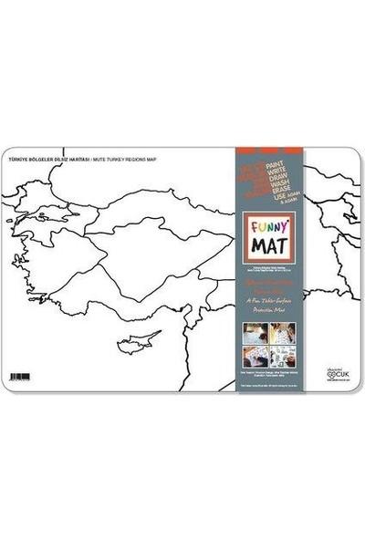 Funny Mat Türkiye Bölgeler Dilsiz Harita