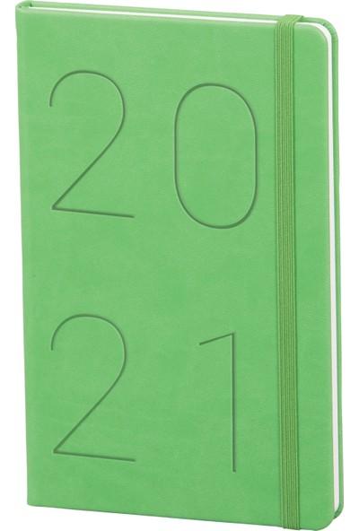 Matt Notebook 2021 Günlük Ajanda Yeşil