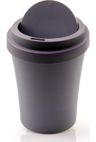 Emhouse Plastik Masaüstü Mini Çöp Kovası Kutusu Soft Renkli 2 Lt