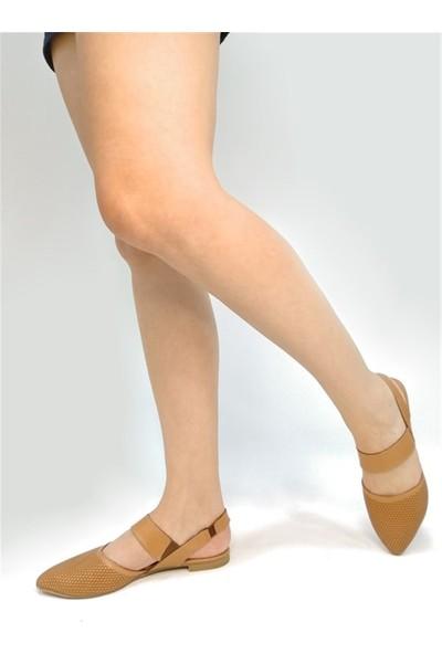Ballerin's El Yapımı Deri Taba Kadın Babet BLRS-1903