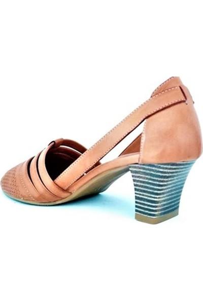 Ballerin's Deri Alın Taba Kadın Ayakkabı