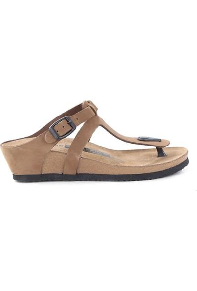 Ballerin's Deri Alında Kadın Kum Sandalet