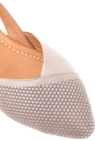 Ballerin's Deri El Yapımı Gri Babet BLRS-2480