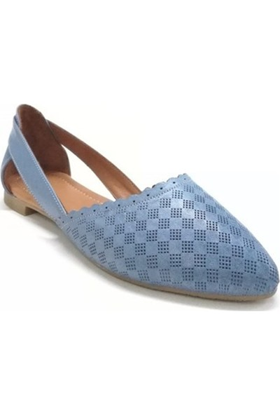 Ballerin's Deri El Yapımı Mavi Babet BLRS-111-30