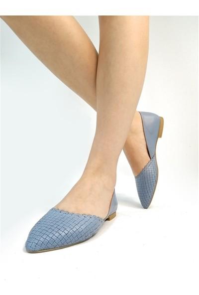 Ballerin's Deri El Yapımı Mavi Babet BLRS-112-15