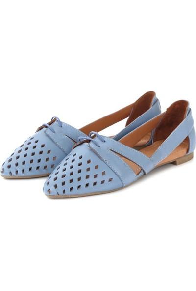 Ballerin's Deri El Yapımı Mavi Babet BLRS-125
