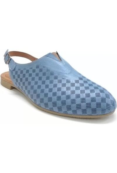 Ballerin's Deri El Yapımı Mavi Babet BLRS-142-10