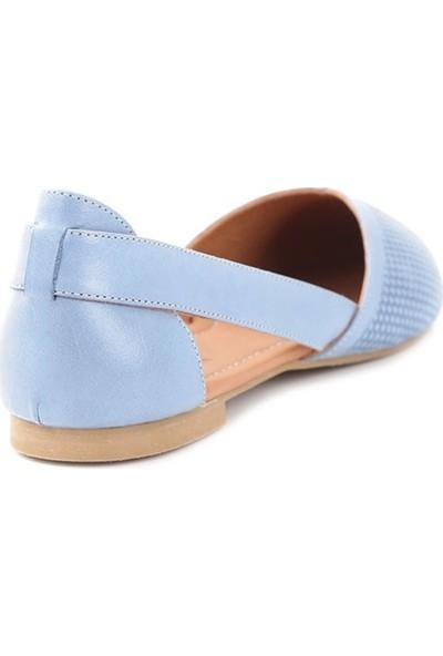 Ballerin's Deri El Yapımı Mavi Babet BLRS-2480