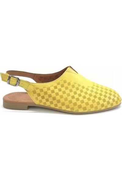 Ballerin's Deri El Yapımı Sarı Babet BLRS-142-10