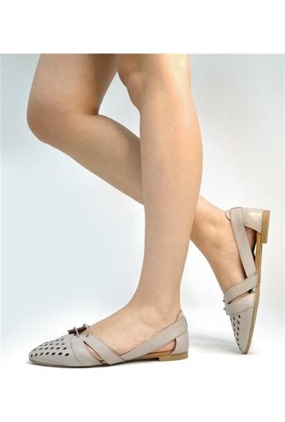 Ballerin's Deri El Yapımı Silver-Gri Babet BLRS-125