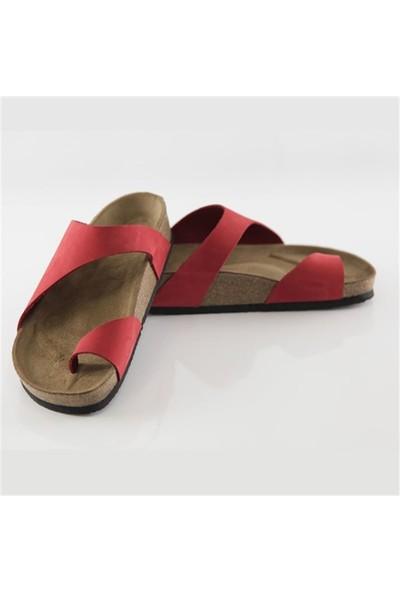 Ballerin's Deri Heirapolis Kadın Kırmızı Sandalet