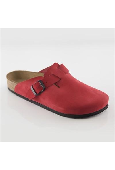 Ballerin's Deri Iotape Erkek Kırmızı Sandalet
