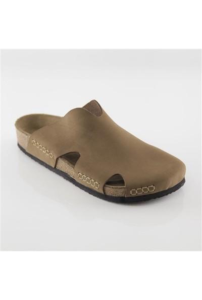 Ballerin's Deri Kapa Kadın Kum Sandalet