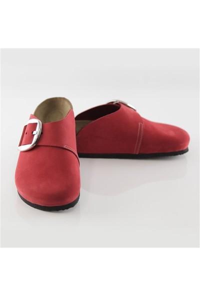 Ballerin's Deri Nıkkı Kadın Kırmızı Sandalet