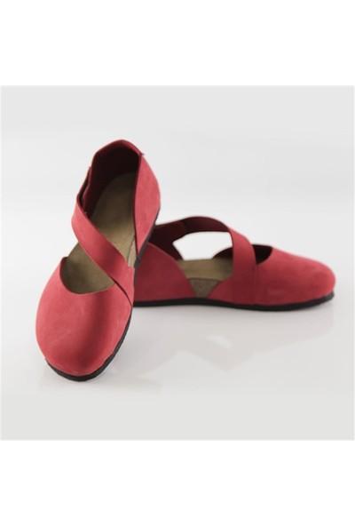 Ballerin's Deri Sydney Kadın Kırmızı Sandalet