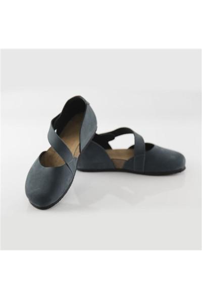 Ballerin's Deri Sydney Kadın Lacivert Sandalet
